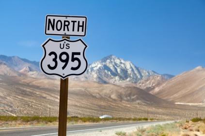 US 395 near Inyoken, California