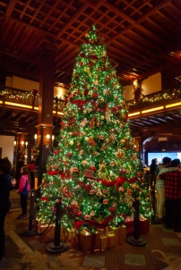 Christmas tree at the Hotel del Coronado