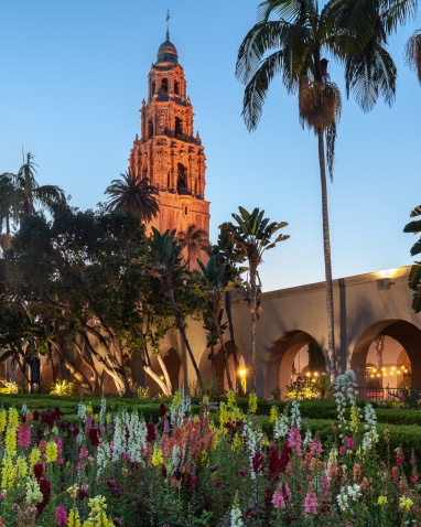 The California Tower at the Museum of Man in Balboa Park, San DIego, California