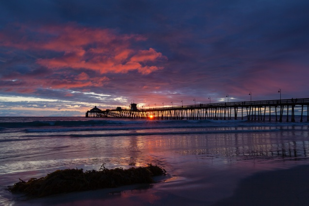 Sunset over the Imperial Beach Pier, Imperial Beach, California